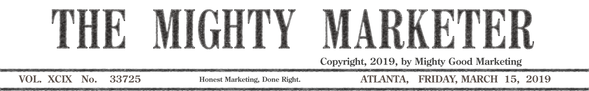 vintage newspaper header