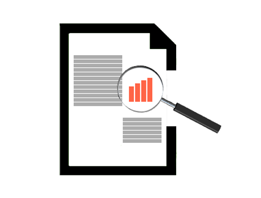 clipart of a paper with graphs